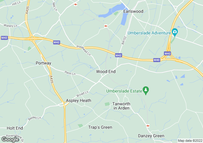 Map for Allerton, Poolhead Lane, Tanworth In Arden, West Midlands, B94