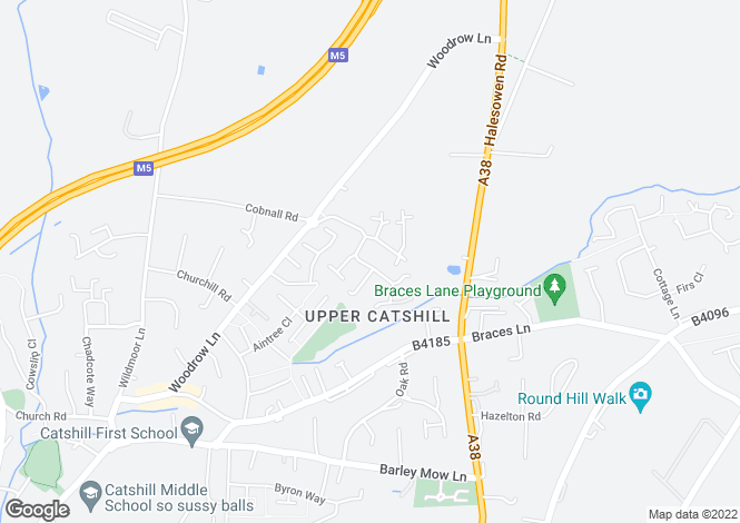 Map for Cheltenham Avenue, Catshill, Bromsgrove