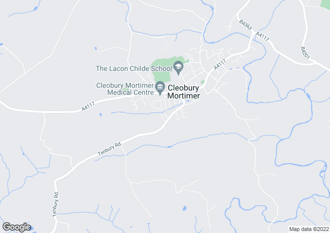 Map for Barnfields, Cleobury Mortimer DY14 8RG