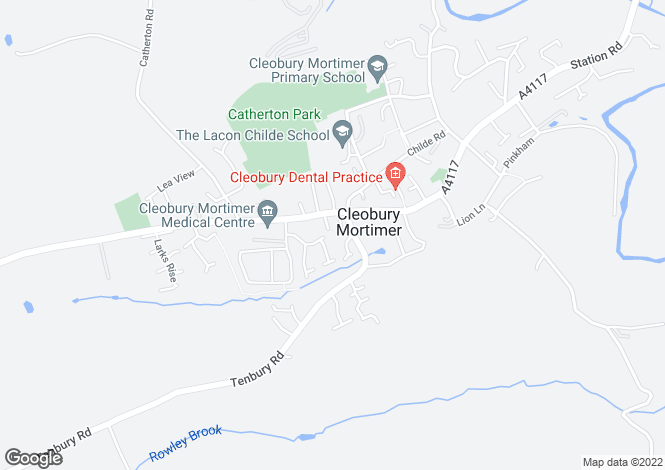Map for Vaughan Road, Cleobury Mortimer, Kidderminster