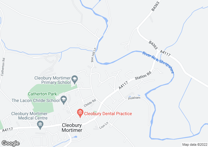 Map for Furlongs Close, Cleobury Mortimer, KIDDERMINSTER, Worcestershire