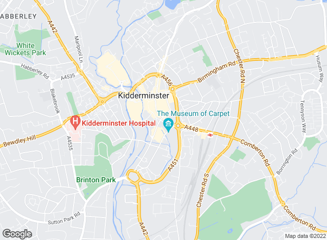 Map for Andrew Grant, Kidderminster