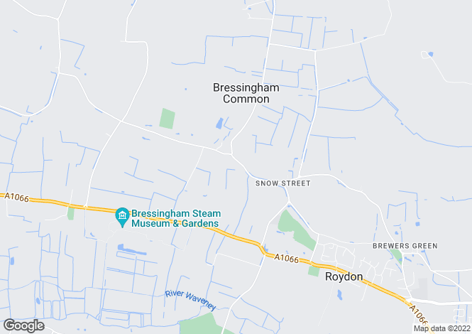 Map for Bressingham Road, Roydon, Diss