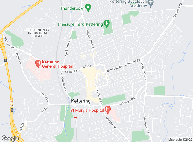 Map for Belvoir Lettings, Kettering