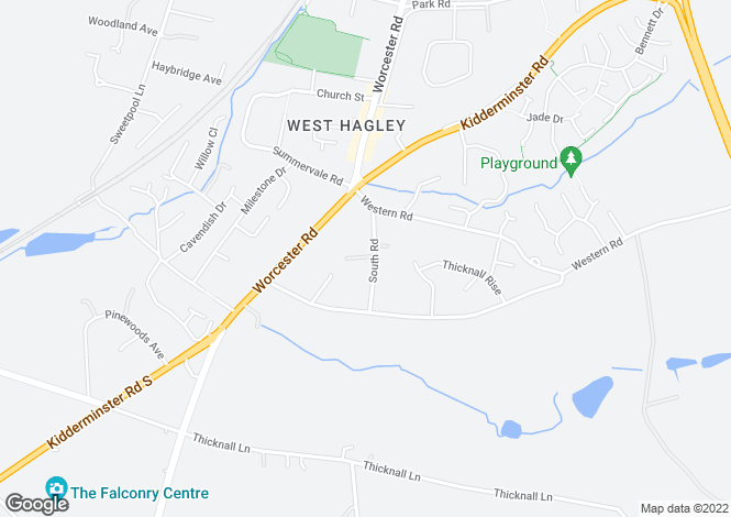 Map for South Road, Hagley, Stourbridge