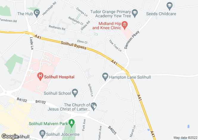 Map for 18, Beechnut Lane, Solihull, West Midlands, B91