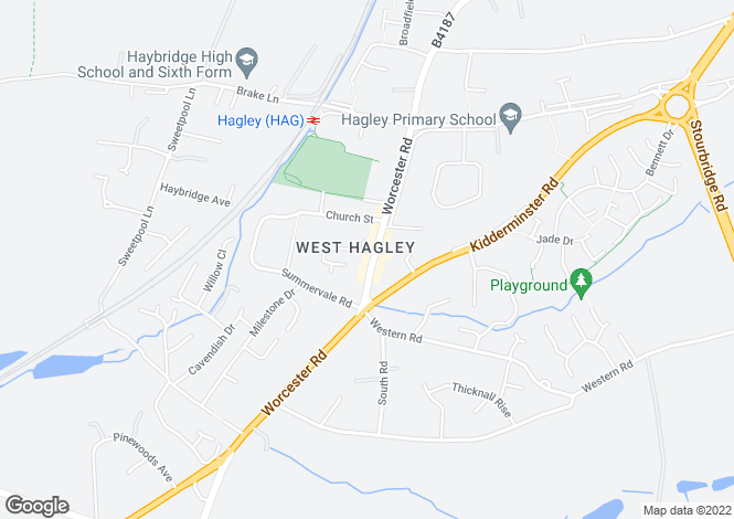 Map for Flat 18, Stuarts Court, Worcester Road, Hagley