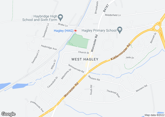 Map for 16, Chapel Street, Hagley, STOURBRIDGE