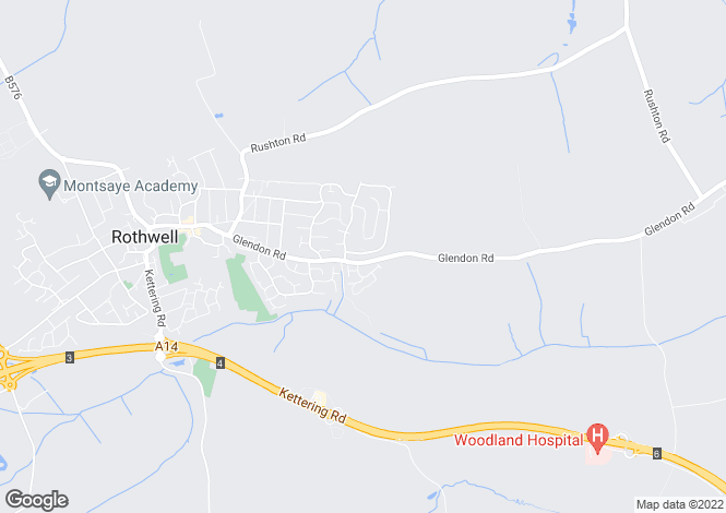 Map for Sharman Way, Rothwell, Kettering