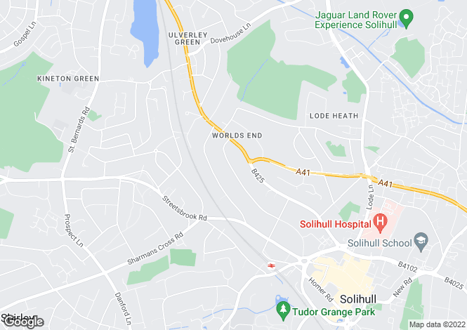 Map for 27, Silhill Hall Road, Solihull, West Midlands, B91