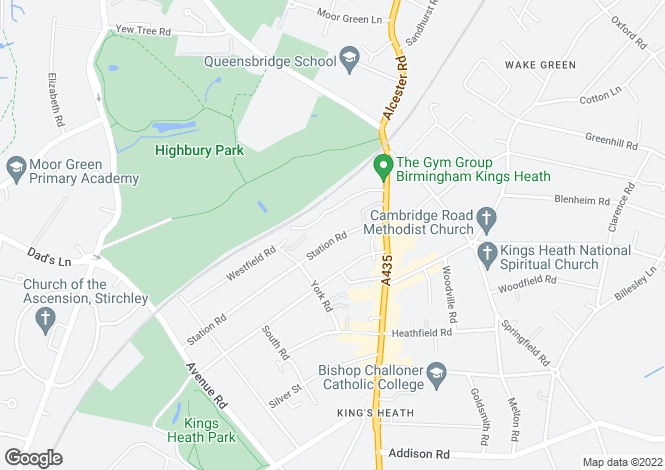 Map for Station Road, Kings Heath, BIRMINGHAM