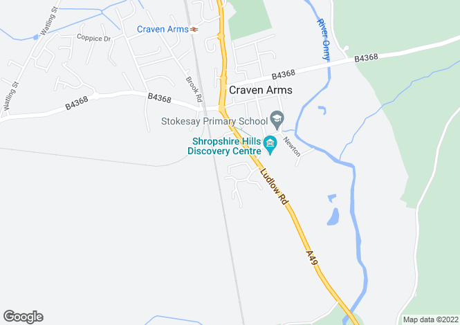 Map for 3 Dodds Lane, CRAVEN ARMS, Shropshire