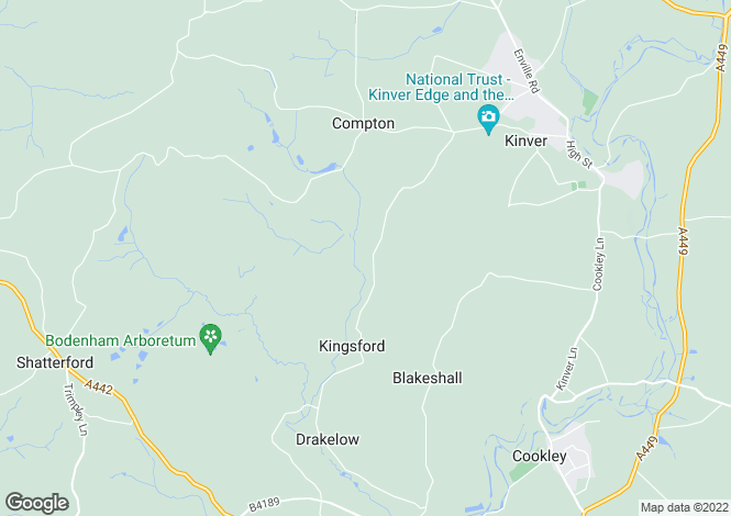Map for Kingsford Lane, Wolverley, Worcestershire, DY11