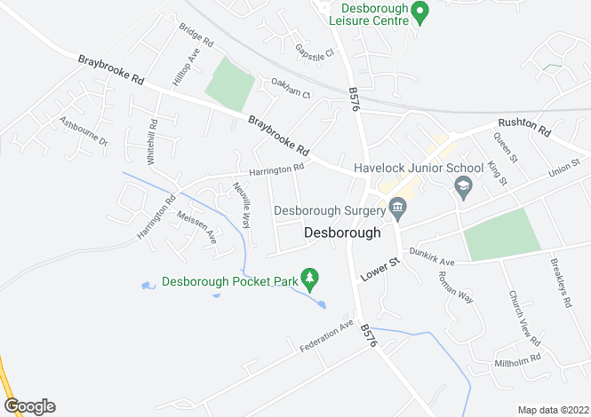 Map for Alexandra Road, Desborough, KETTERING, Northamptonshire