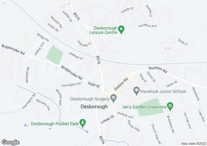 Map for Harborough Road, Desborough, Desborough, Northamptonshire, NN14