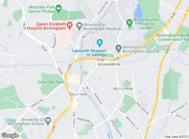 Map for Chamberlains (Birmingham) Ltd , Selly Oak - Lettings