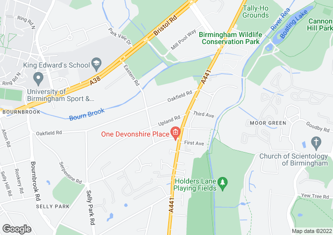 Map for 12 Upland Road, Selly Park, Birmingham