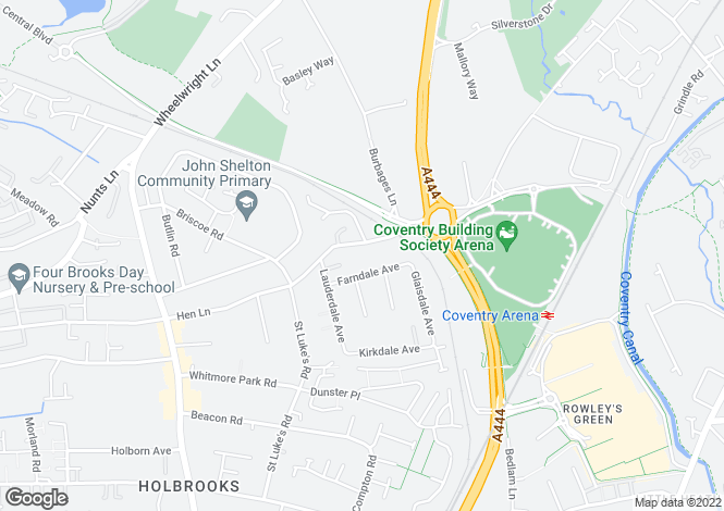 Map for 162 Hen Lane, Coventry, West Midlands, CV6