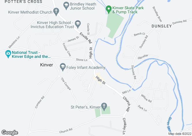 Map for 55a High Street, Kinver, Stourbridge