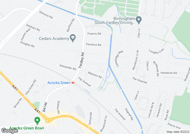 Map for Elmdon Road, Acocks Green, Birmingham, B27 6LJ