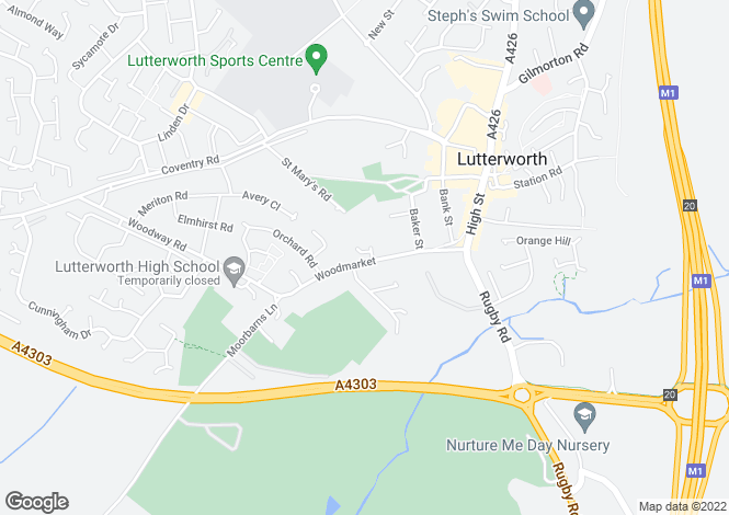Map for Woodmarket, Lutterworth, Leicestershire
