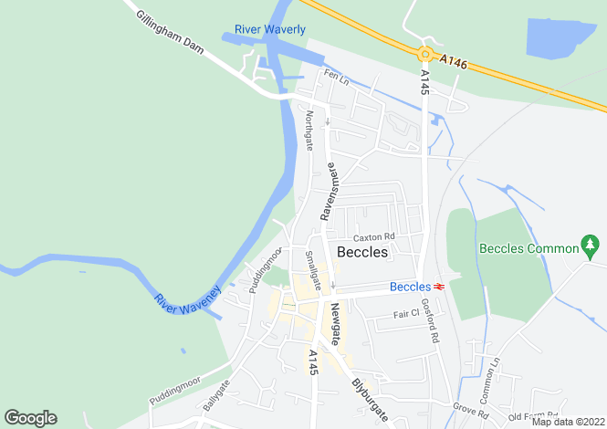 Map for Northgate House, Beccles