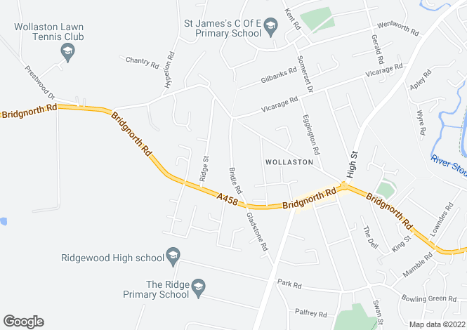 Map for Bridle Road, Wollaston