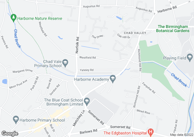 Map for Yateley Road,