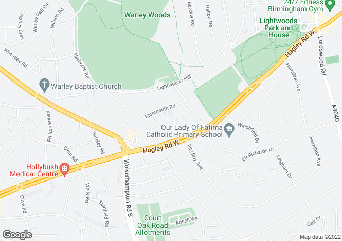 Map for Devon Road, Bearwood, Birmingham, B67 5EJ