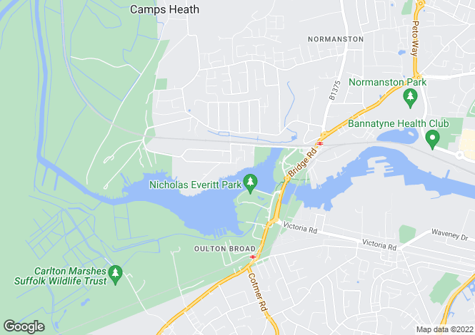 Map for Oulton Broad
