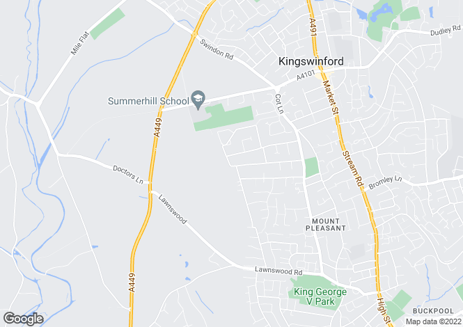 Map for 153 Kingsley Road, Kingswinford, West Midlands