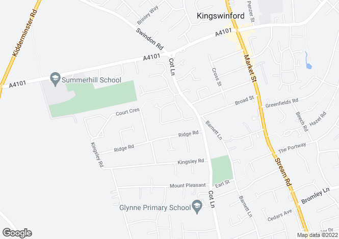 Map for Summercourt Square, Kingswinford