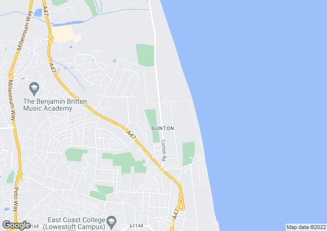 Map for Corton Road,