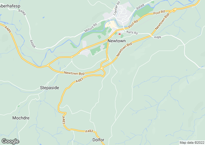 Map for Black Hall, Dolfor Road, Newtown, Powys