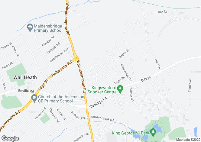 Map for 20 Charterfield Drive, Charterfields, Kingswinford, West Midlands