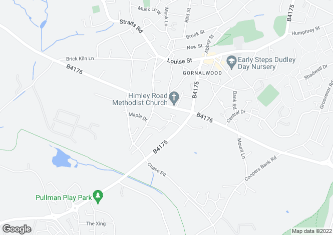 Map for Cinder Road, Gornal Wood, DUDLEY, West Midlands