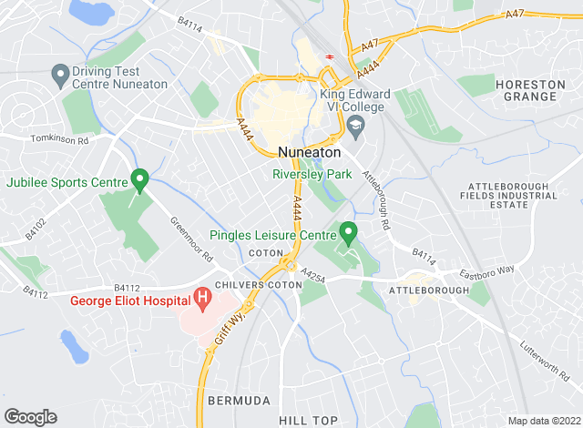 Map for Cartwright Hands, Nuneaton-Lettings