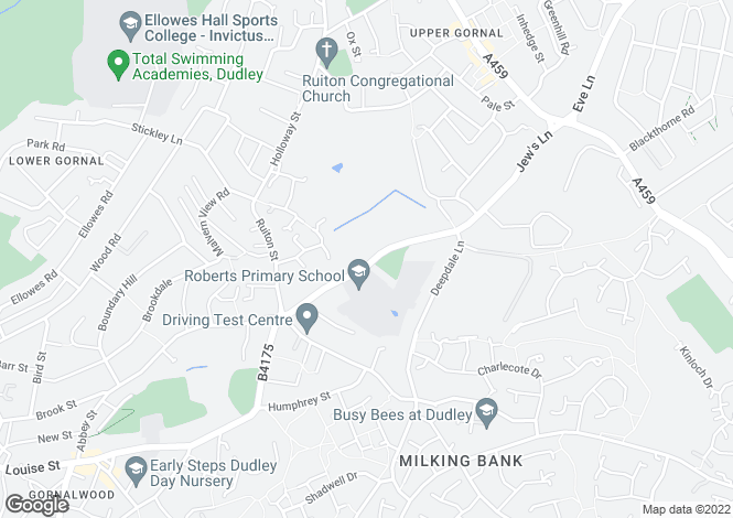 Map for Robert Street, Lower Gornal, Dudley, West Midlands