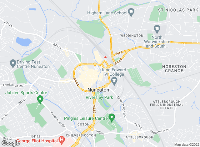 Map for Pointons, Nuneaton