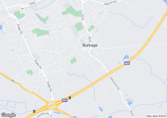 Map for Britannia Road, Burbage, Leicestershire