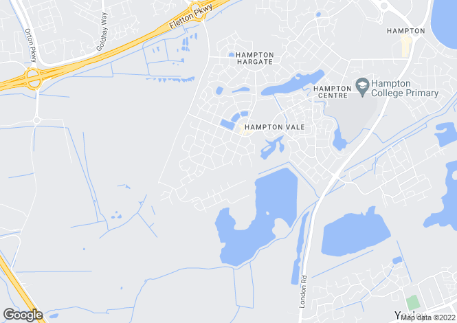 Map for Albert Crescent, Hampton Vale, Peterborough