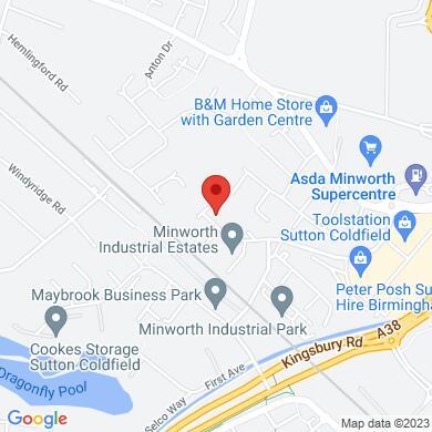 SMH Products Birmingham map