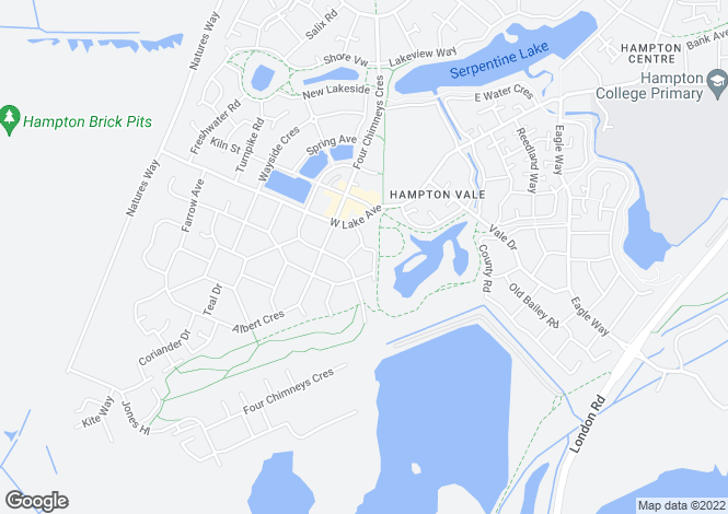 Map for Coppen Road, Hampton Vale, Peterborough