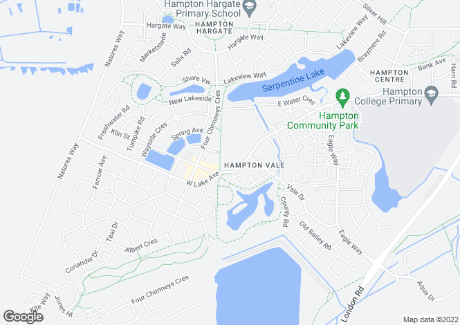 Map for Wensleydale at Hampton Park, Westlake Avenue,