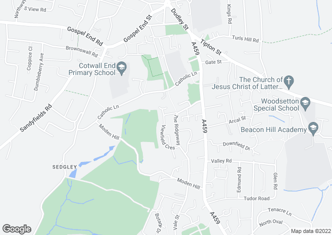 Map for VIEWFIELD CRESCENT, DUDLEY