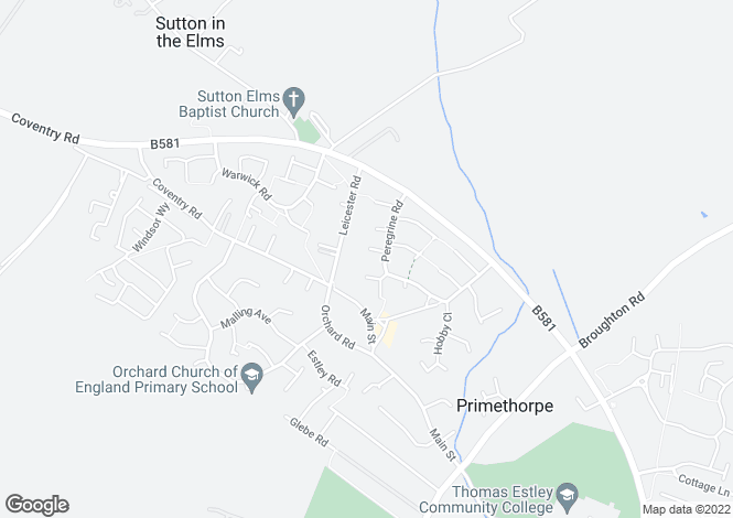 Map for Goshawk Close, Broughton Astley, LEICESTER