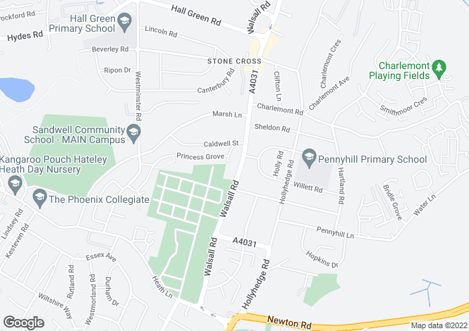 Map for 25 Stone Cross, Walsall, WEST BROMWICH, B71 3HJ