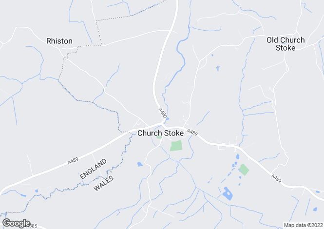 Map for Church Stoke. Powys