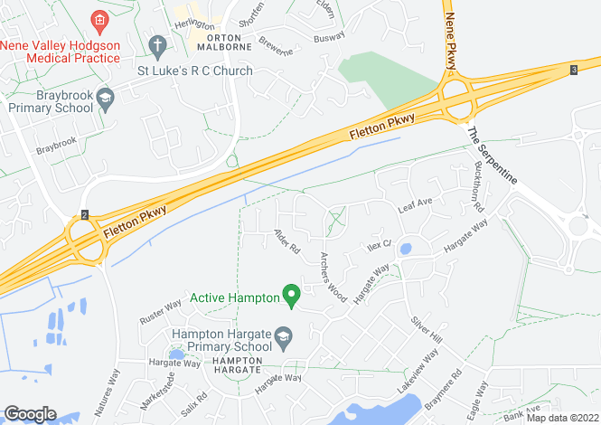 Map for Applewood Drive, Hampton Hargate, Peterborough, PE7 8DX