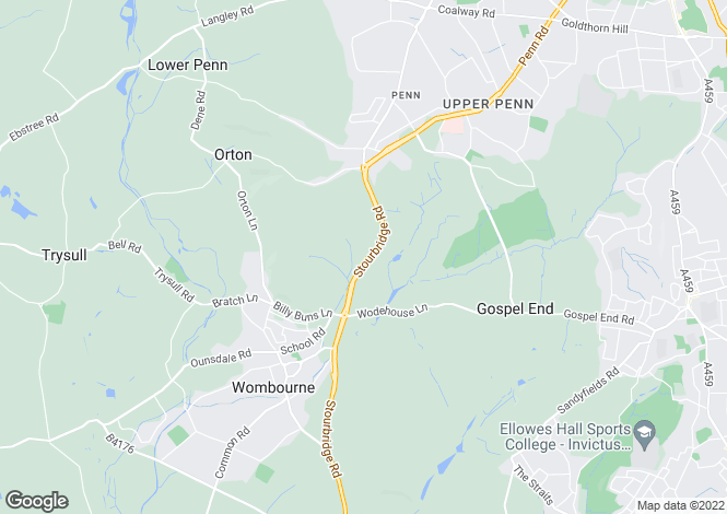 Map for Southfield, Stourbridge Road, Wombourne, Wolverhampton, West Midlands